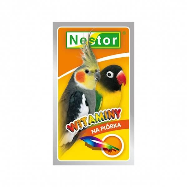 NESTOR WITAMINY 20g papuga średnia na piórka