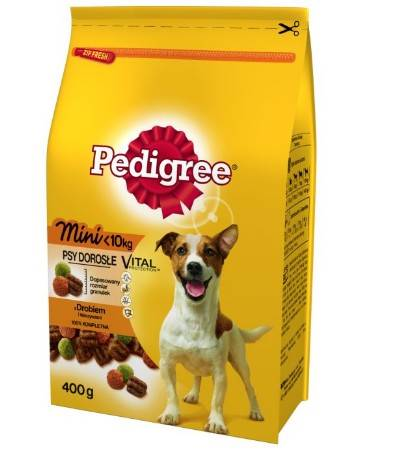 PEDIGREE MINI 400g z DROBIEM *