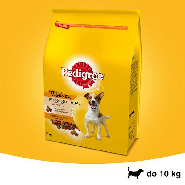 PEDIGREE MINI 2kg z DROBIEM *
