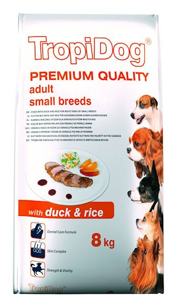 TROPIDOG PREMIUM adult mini duck&rice 8kg