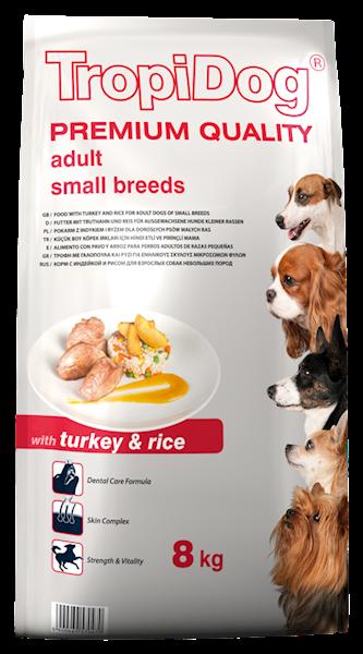 TROPIDOG PREMIUM adult mini turkey&rice 8kg