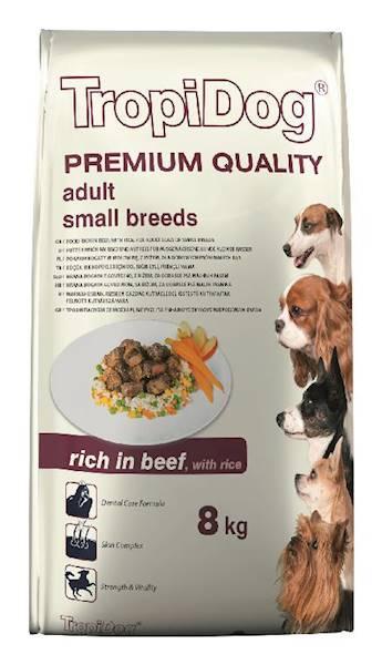 TROPIDOG PREMIUM adult mini beef&rice 8kg