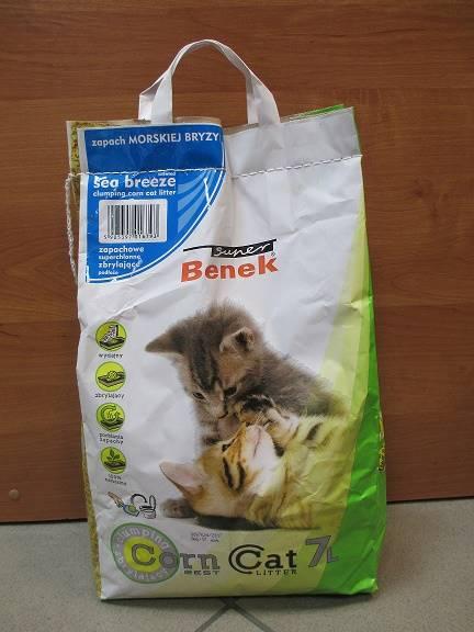 PIASEK S.BENEK CORN CAT MORSKA BRYZA 7L