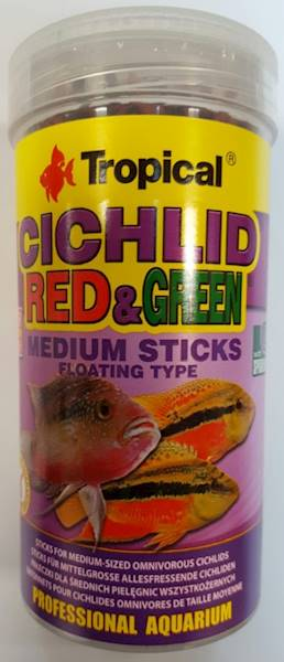 CICHLID RED&GREEN medium sticks  250ml/90g
