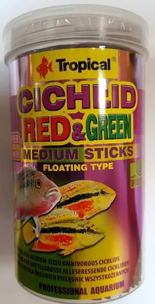 CICHLID RED&GREEN medium sticks 1000ml/360g