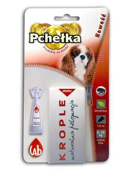 PCHEŁKA-KROPLE  pies 5-15kg 1,5ml