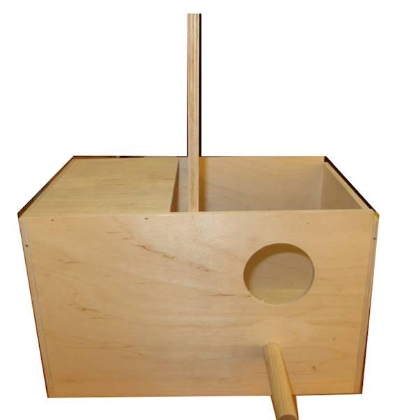 PINO BUDKA LĘGOWA DLA PAPUG DUŻA 30x18,5x18,5cm