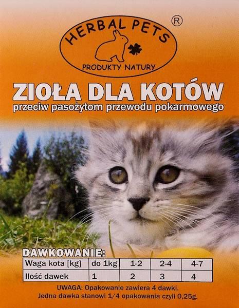 PETS ZIOŁA P/PASOŻYTOM 1g-kot