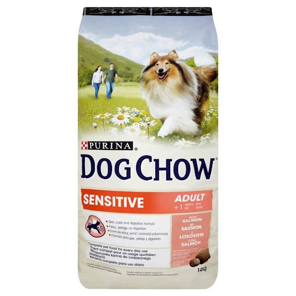 PURINA DOG CHOW SENSITIVE 14kg ŁOSOŚ *