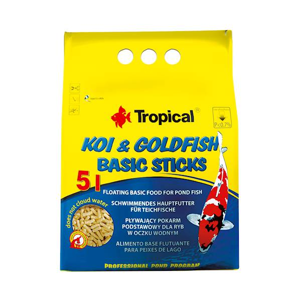 KOI  5L/400g GOLDFISH BASIC STICKS TROPICAL-Worek