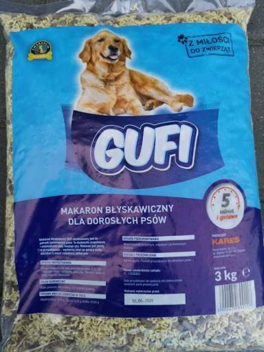 MAKARON GUFI 3 kg z bez gotowania z granulatem.