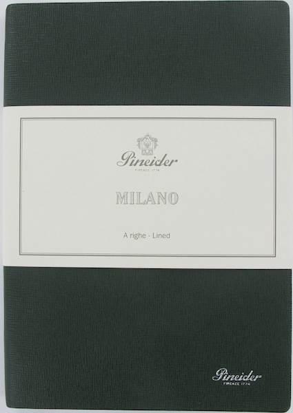 "PINEIDER-NOTES MILANO 14,5X21 L.IVO-80G-""374""GREEN"