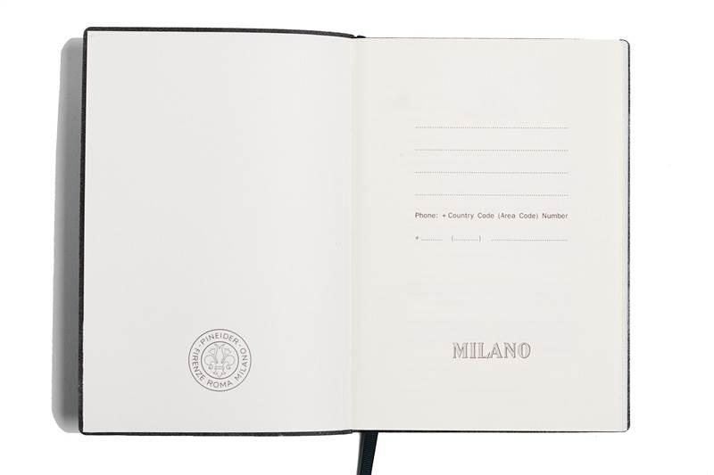 "PINEIDER-NOTES MILANO 14,5X21 L.IVO80G-""377""SILVER"