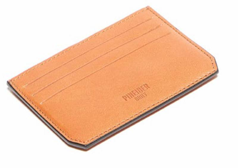 PINEIDER-DAILY CARD HOLDER-JASNY BRĄZ-CUOIO