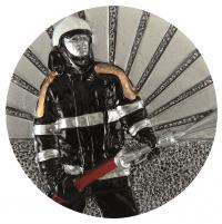 Emblemat DX46 strażak