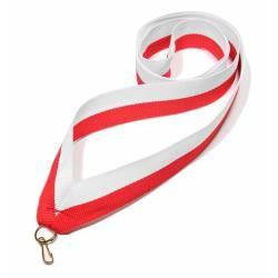 Wstążka tasiemka szarfa 2 cm biało-czerwona
