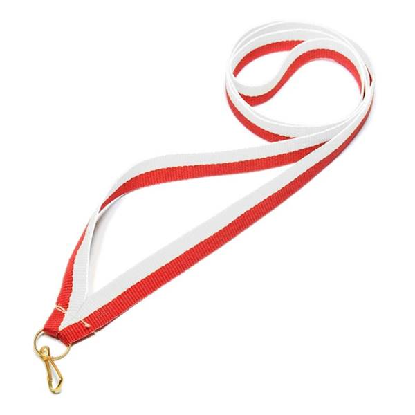 Wstążka tasiemka szarfa 1 cm biało-czerwona