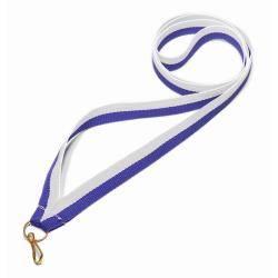 Wstążka tasiemka szarfa 1 cm biało-niebieska