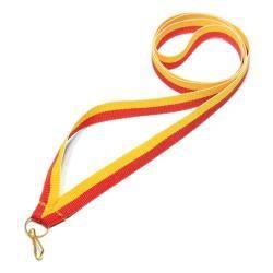 Wstążka tasiemka szarfa 1 cm żółto-czerwona