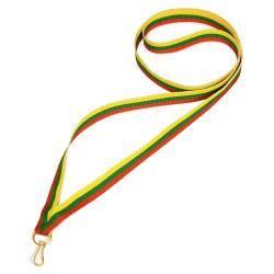 Wstążka tasiemka szarfa 1 cm czerwono-zielono-żółt