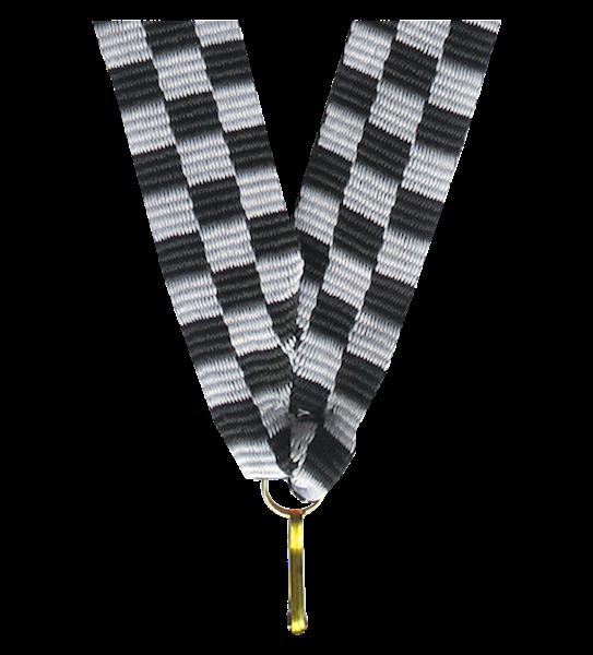 Wstążka tasiemka szarfa 1 cm szachownica