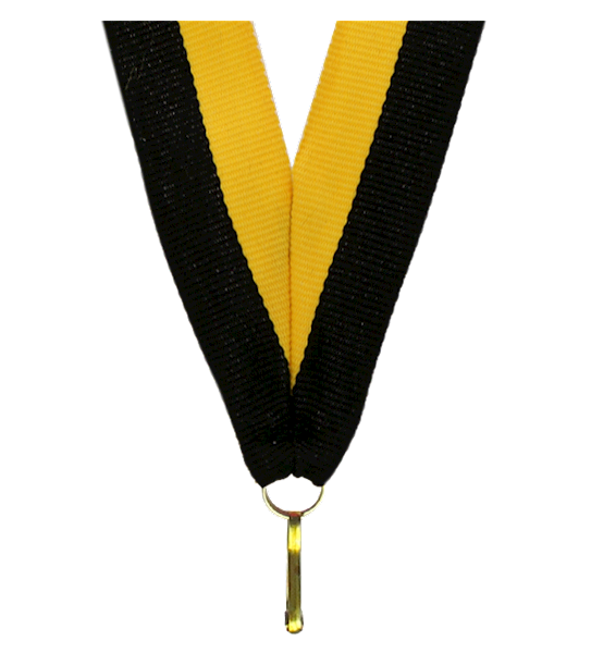 Wstążka tasiemka szarfa 1 cm żółto-czarna