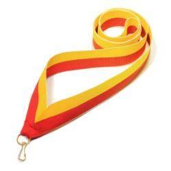 Wstążka tasiemka szarfa 2 cm żółto-czerwona