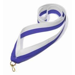 Wstążka tasiemka szarfa 2 cm biało-niebieska