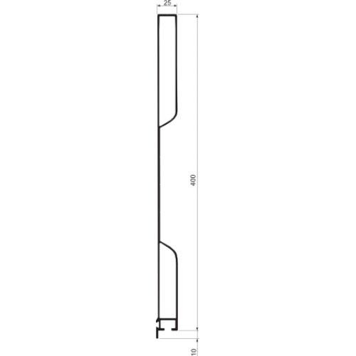 ALU.PROFIL BURTOWY  H400/25B L=1000