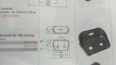 KONSOLA DO MB-ACTROS/FASOLKA25X16mm SUROWA
