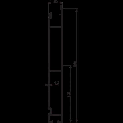 "PROFIL BUTROWY DOLNY ALU H200/25/ 1MB ""nap lock"""