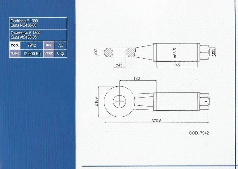 OCZKO fi45 /63  -12 T OBROTOWE DO WSPAWANIA F139