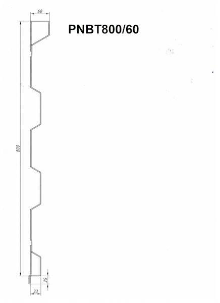 STAL. PROFIL NADSTAWY BOK L=2440
