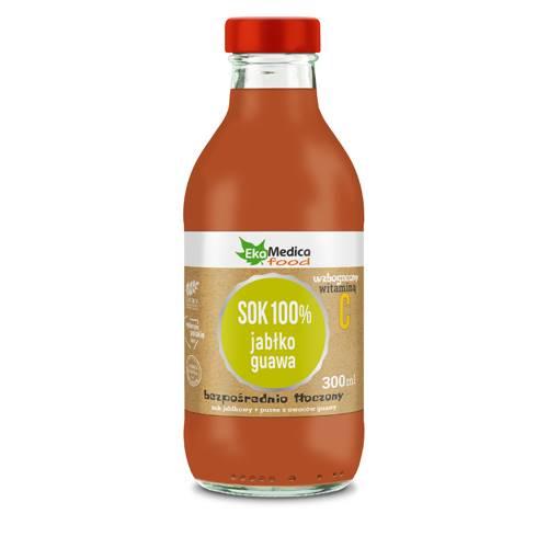 EkaMedica sok 100% jabłko, guava 0,3L