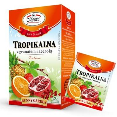 Herbata tropikalna + granat + acerola 20*2g MALWA