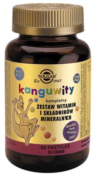 Solgar KANGUWITY- Wit i minerały do ssania- jagody