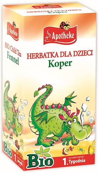 HERBATKA DLA DZIECI - KOPER BIO 20 x 1,5 g - APOTH