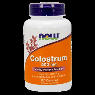 NOW Foods Colostrum 500 mg 120 kaps/siara bydlęca