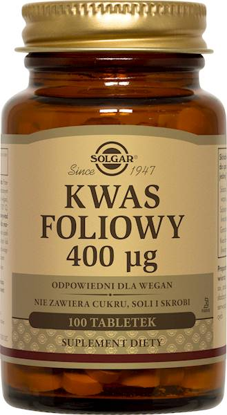 Solgar KWAS FOLIOWY 400 µg (HIPOALERGICZNY)