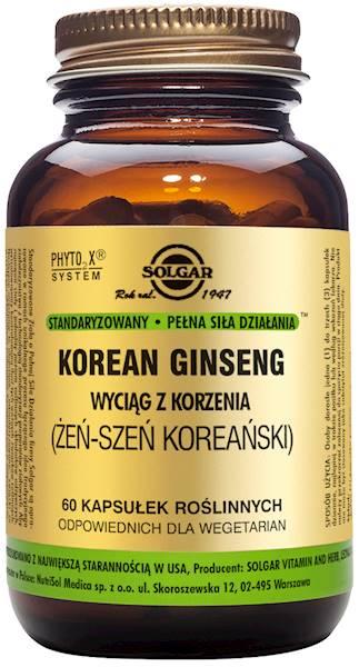 Solgar ŻEŃSZEŃ KOREAŃSKI S.P.S.D.*(KOREAN GINSENG)