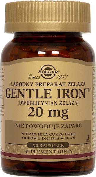 Solgar ŻELAZO (GENTLE IRON) 20 mg