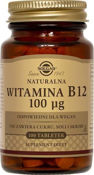 Solgar WITAMINA B12 NATURALNA 100 µg