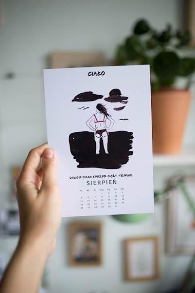 Kalendarz babski - kartki