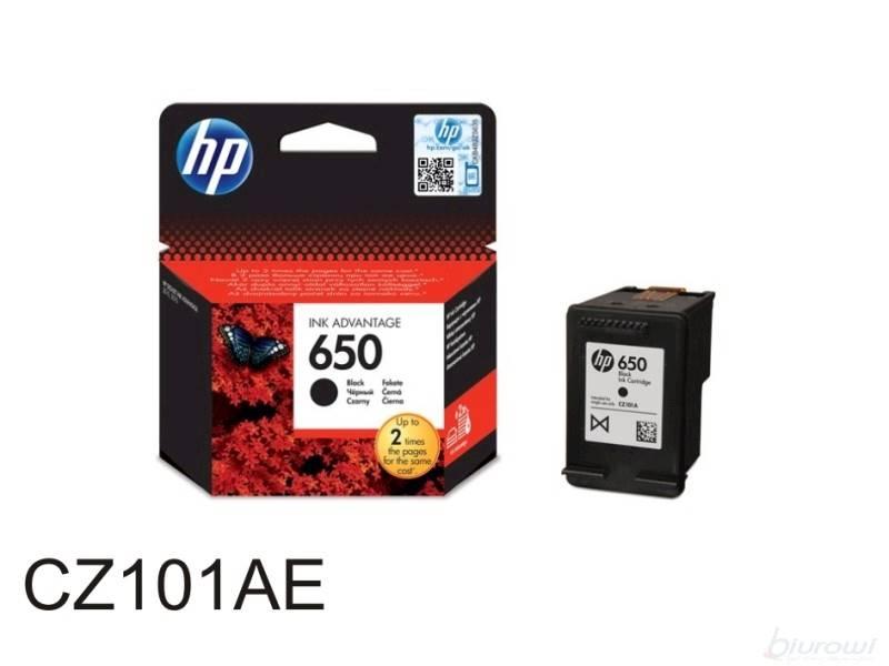 TUSZ HP NR: 650 CZARNY CZ101AE ORYGINALNY
