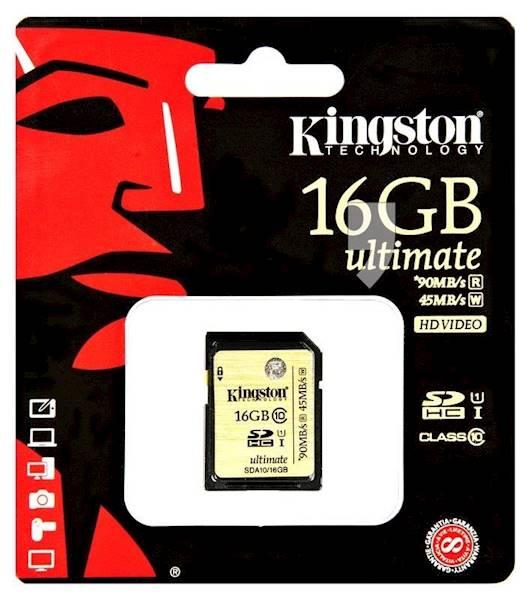 PAMIĘĆ SD 16GB KINGSTON SDA10/16GB
