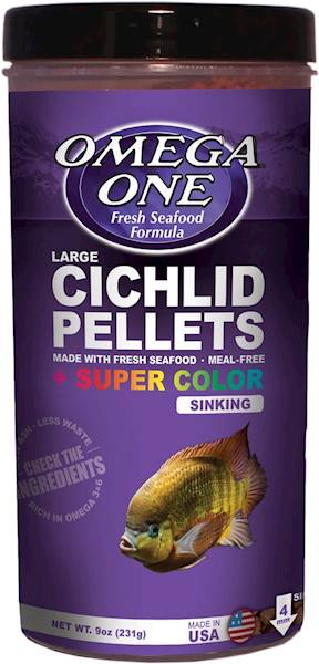 CICHLID PELLETS SUPER COLOR SINKING LARGE 255G