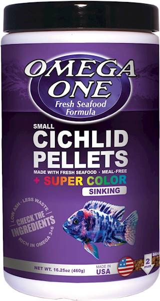 CICHLID PELLETS SUPER COLOR SINKING SMALL 460G