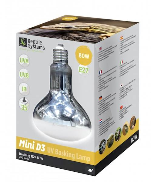 AS D3 UV BASKING LAMP    MINI 80W E27