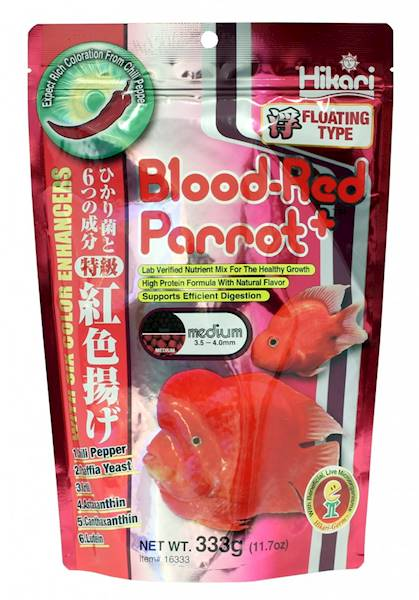 BLOOD-RED PARROT PLUS MEDIUM 333G