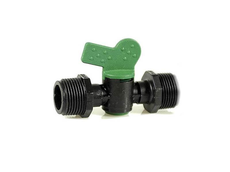 """IRRITEC Zawór kulowy plastikowy 3/4""""-3/4"""" zielony"""